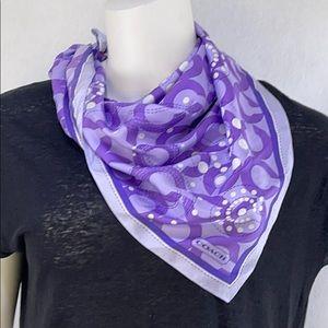 Coach 100% silk scarf